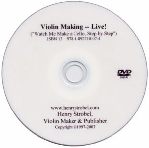 Cello Making Step by Step, DVD